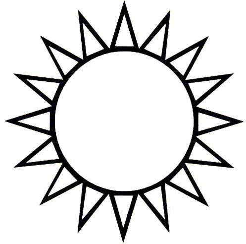 Шаблон солнышка для аппликации