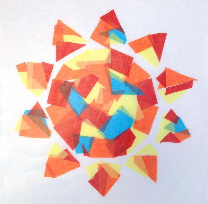 Солнышко аппликация из бумаги