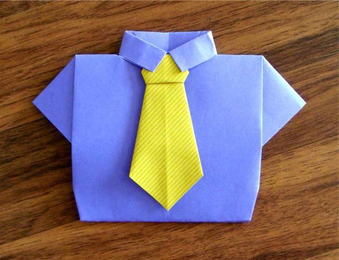Галстук из бумаги своими руками для детей