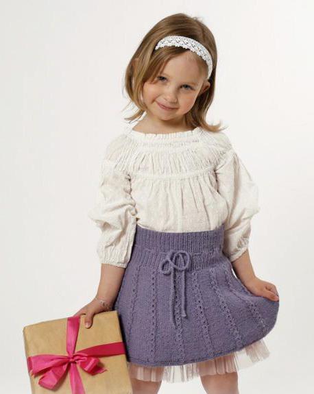 связать юбку для девочки спицами с описанием
