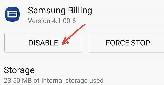 samsung billing приложение