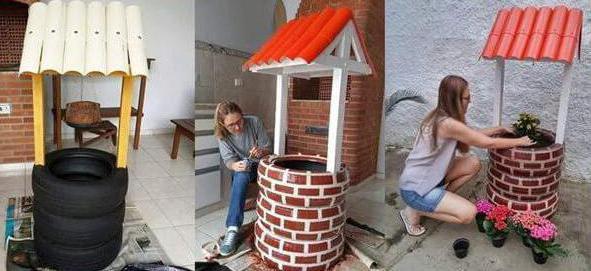Колодец из покрышек на даче своими руками