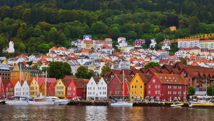 столица и крупные города норвегии