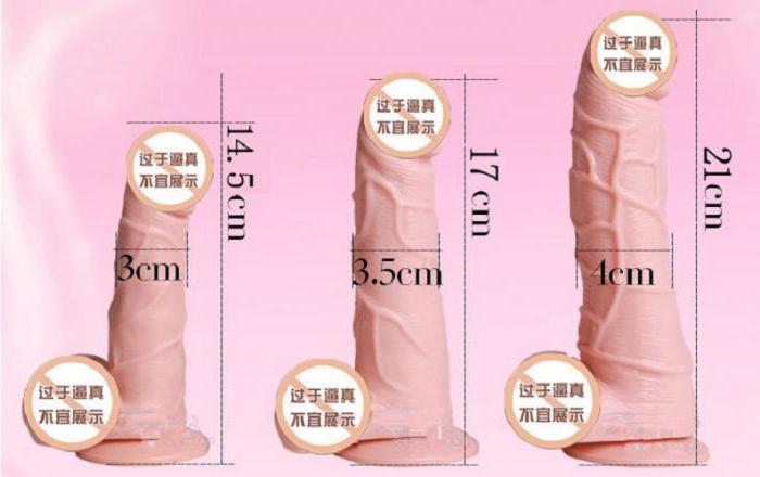 выбрать размер фаллоимитатора