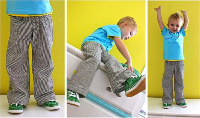 выкройка спортивных штанов на резинке для мальчика