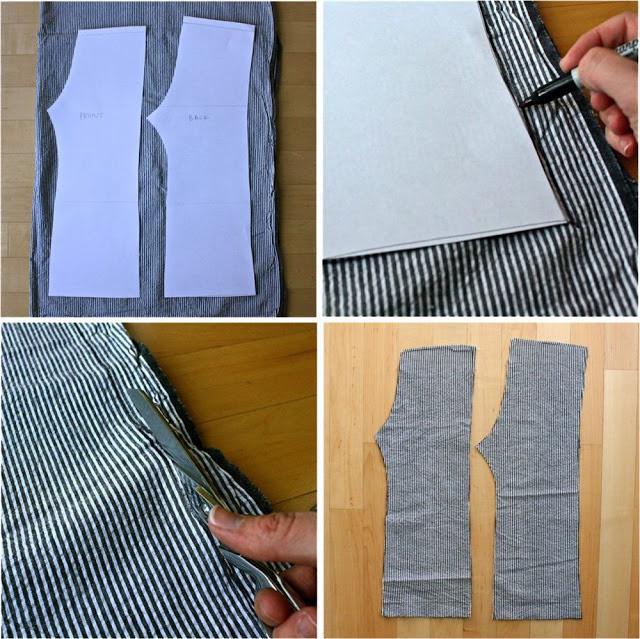 выкройка штанов для мальчика на резинке