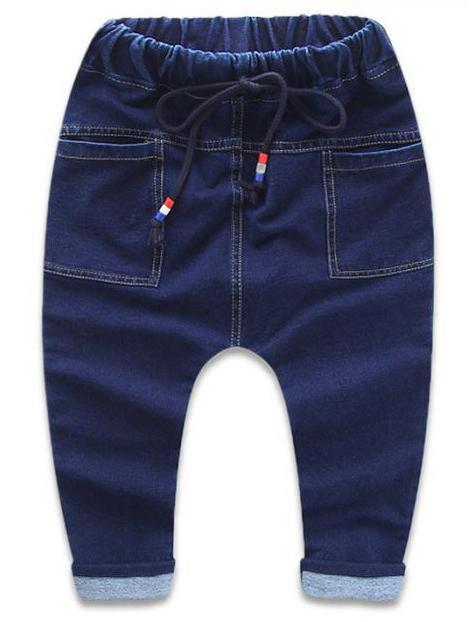выкройка простых штанов на резинке для мальчика