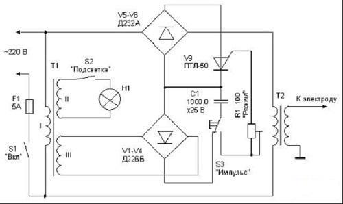 Самодельная конденсаторная сварка схема