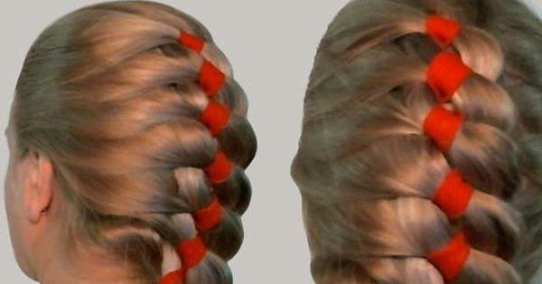 коса из 4 прядей схема плетения