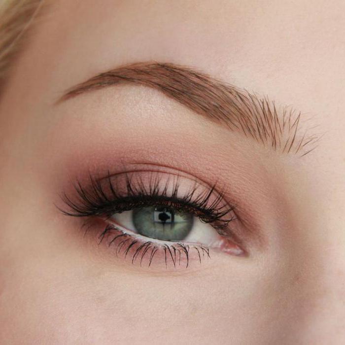 Макияж глаз розовые тени