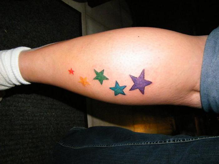 тату звезда на ноге женские