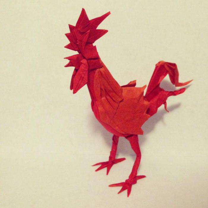 оригами петух из модулей мастер класс