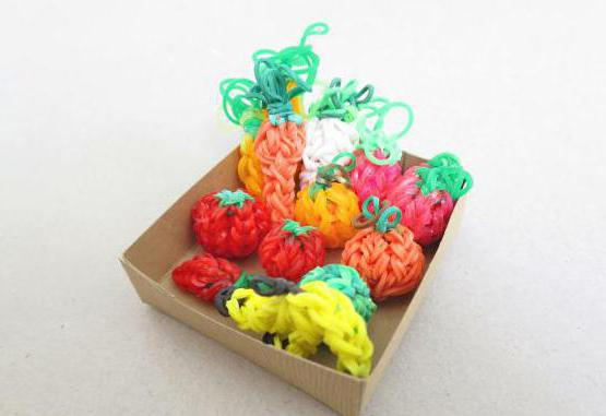 фигурки из резинок овощи и фрукты