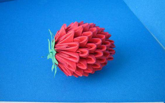 оригами ягодки и фрукты