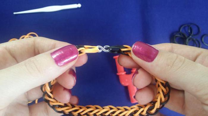 браслет из резинок французская коса схема