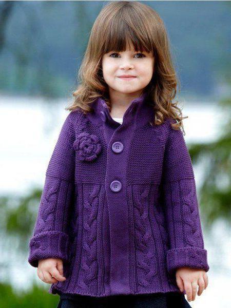 вязаное пальто для девочки спицами с описанием