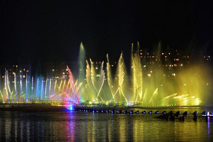 Грозненское море: фонтан