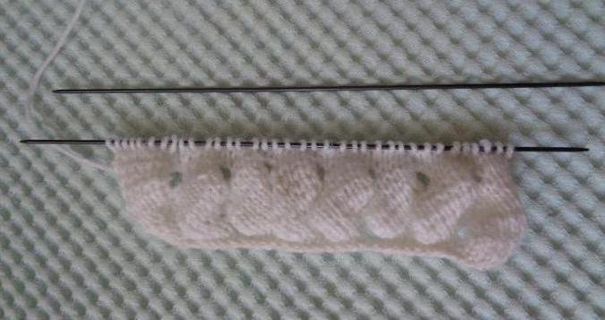 азиатский колосок схема вязания мастер класс