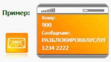 разблокировать услугу мобильный банк сбербанка через смс