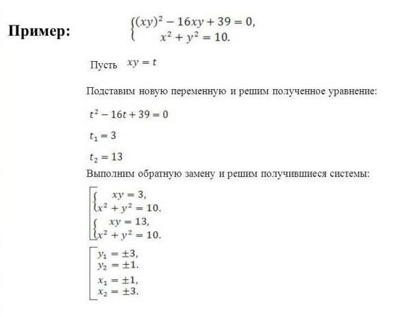 примеры систем линейных уравнений