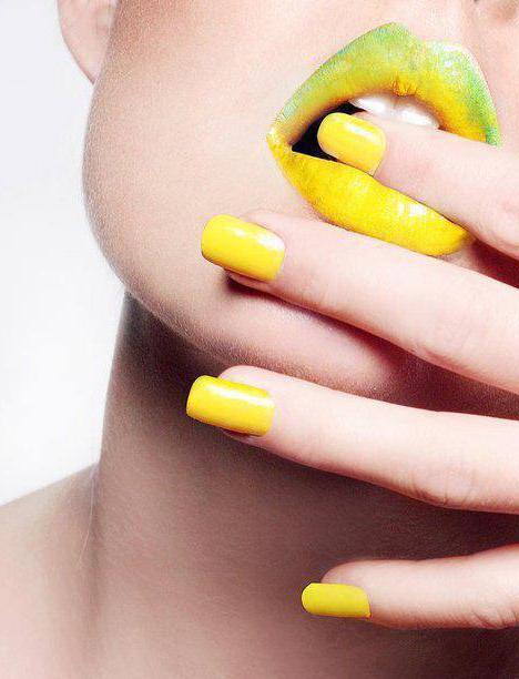 желтые ногти дизайн шеллак