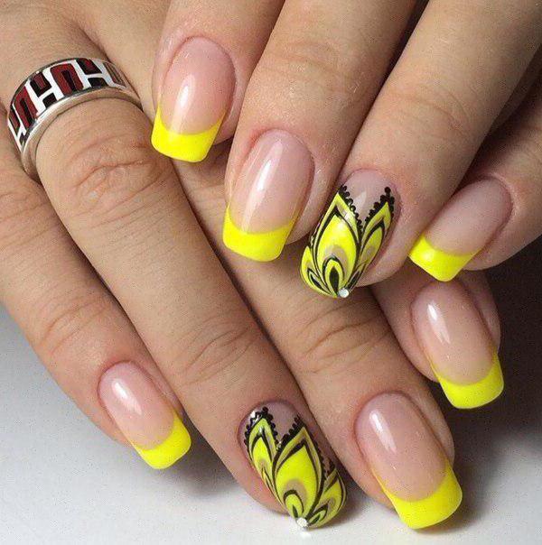 шеллак желтый дизайн