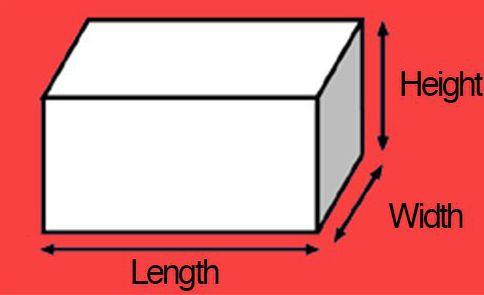 условные обозначения длины ширины высоты