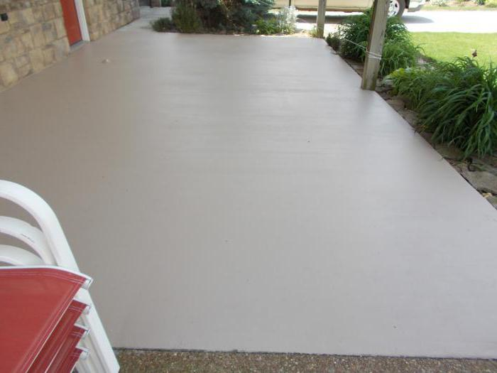 чем покрасить бетон в гараже