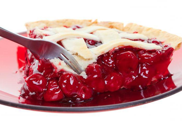 летний пирог с вишней