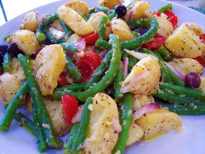 салат со спаржевой фасолью