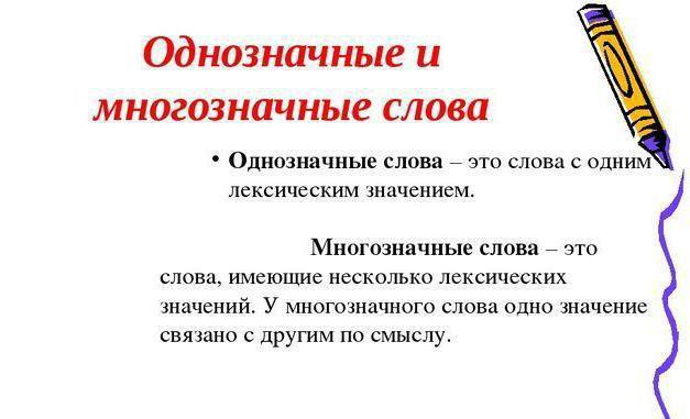 многозначные слова примеры в русском языке