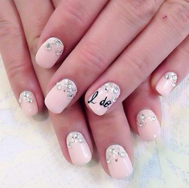 розовый маникюр на коротких ногтях дизайн