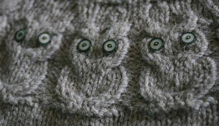 свитер с совой спицами