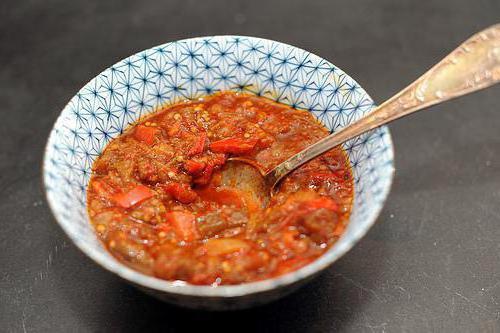 овощная икра из кабачков и баклажан