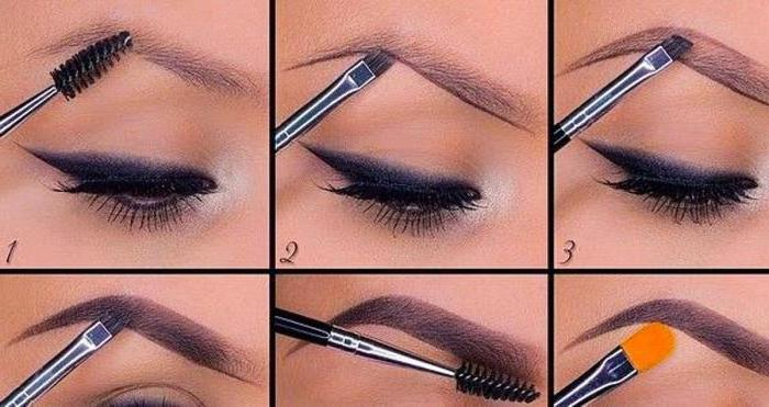 Как правильно накрасить брови и глаза