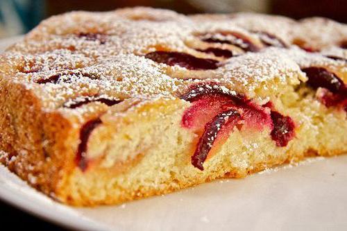 пирог с алычой рецепт с фото