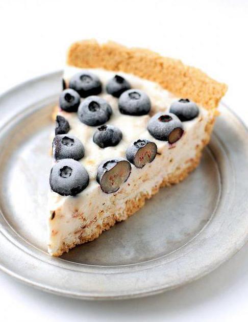 Пирог с черникой на кефире рецепт