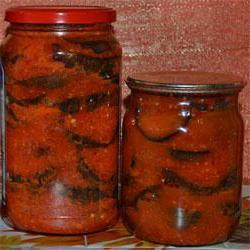 салат огонек на зиму из помидор