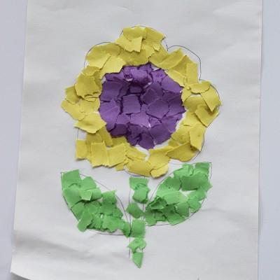 поделки из цветной бумаги цветы