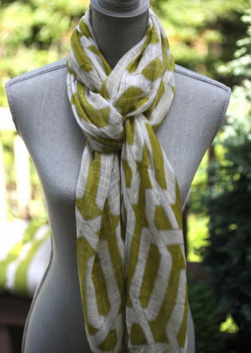 как красиво завязать большой шарф