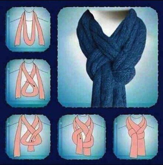 как завязать большой шарф