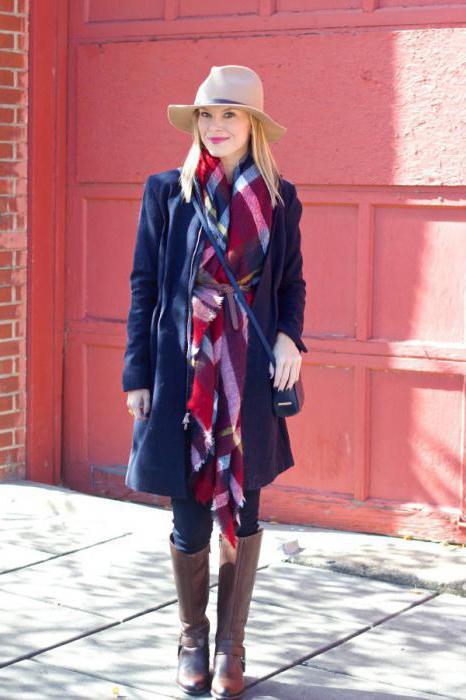 как завязать большой шарф на пальто