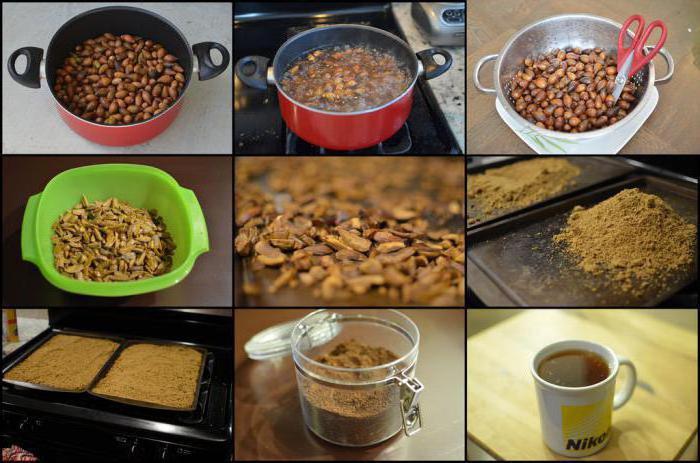 как приготовить кофе из дубовых желудей