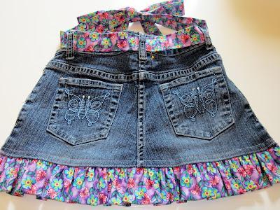 сшить юбку из джинсов