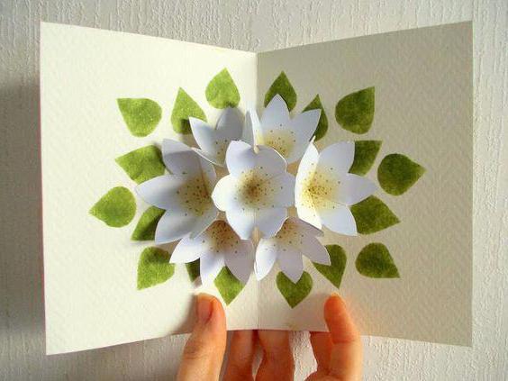 Объемная открытка с цветочками 38