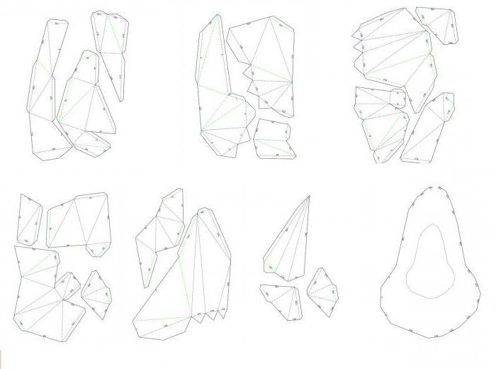 Объемный единорог из бумаги схема