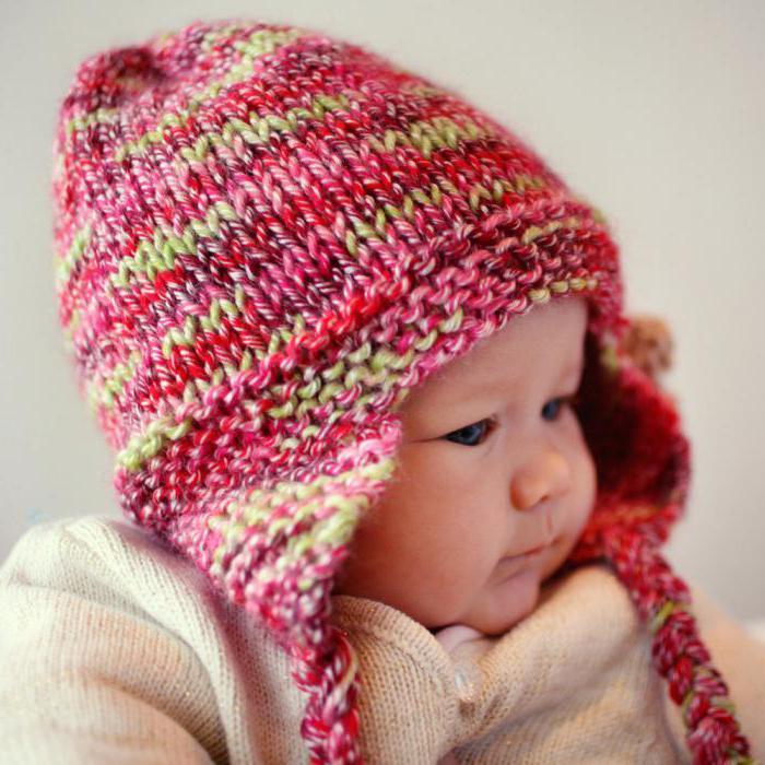 вязание детям от 0 до 3 лет с описанием спицами шапочки