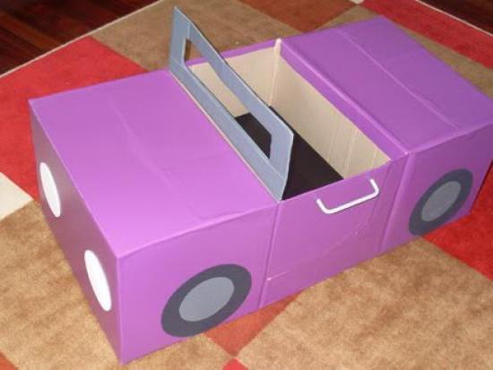 Как сделать для барби машину из коробки своими руками 77