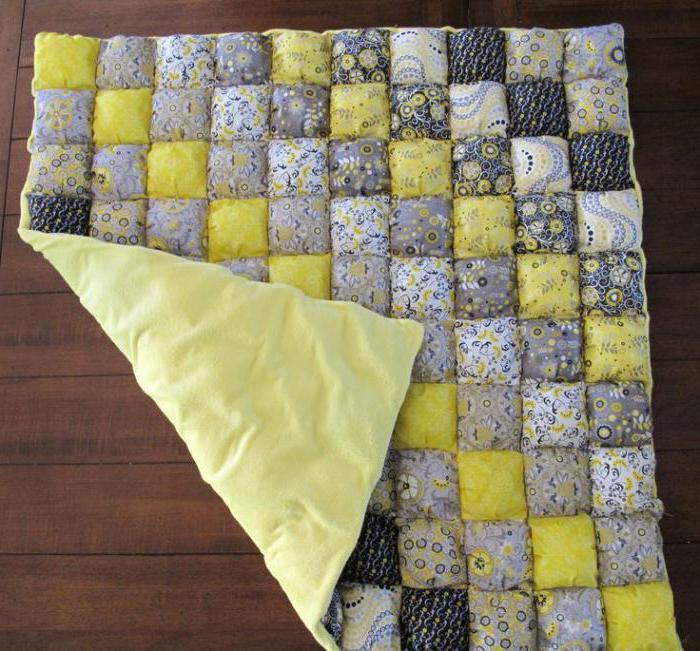 Одеяло из квадратов ткани своими руками 31