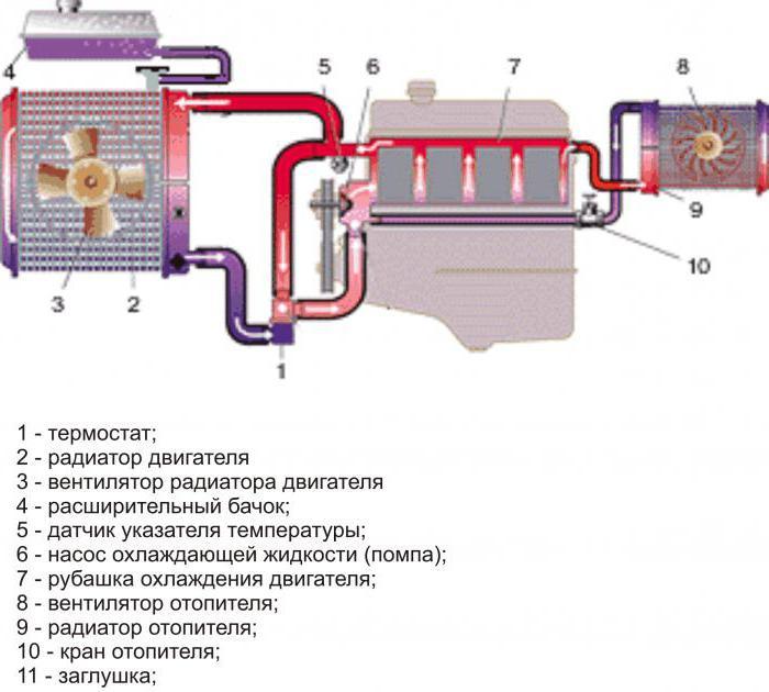 2141 схема охлаждающей жидкости